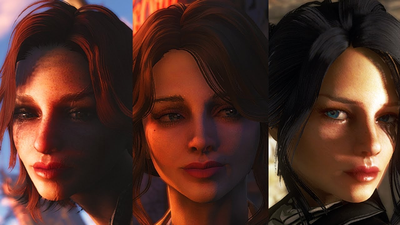 Fallout 4 - AGEMO'S GORGEOUS HEROINES - Cait, Curie And Piper Best  Replacement Mod Ever