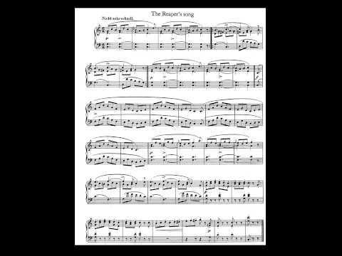 Schumann. Album for the Young Op. 68. 18-The Reaper's Song  Partitura E Interpretación