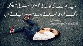 Heart Touching 2 Line sad Poetry|Best Urdu 2 Line sad Heart Broken Poetry|Adeel Hassan|SMS poetry