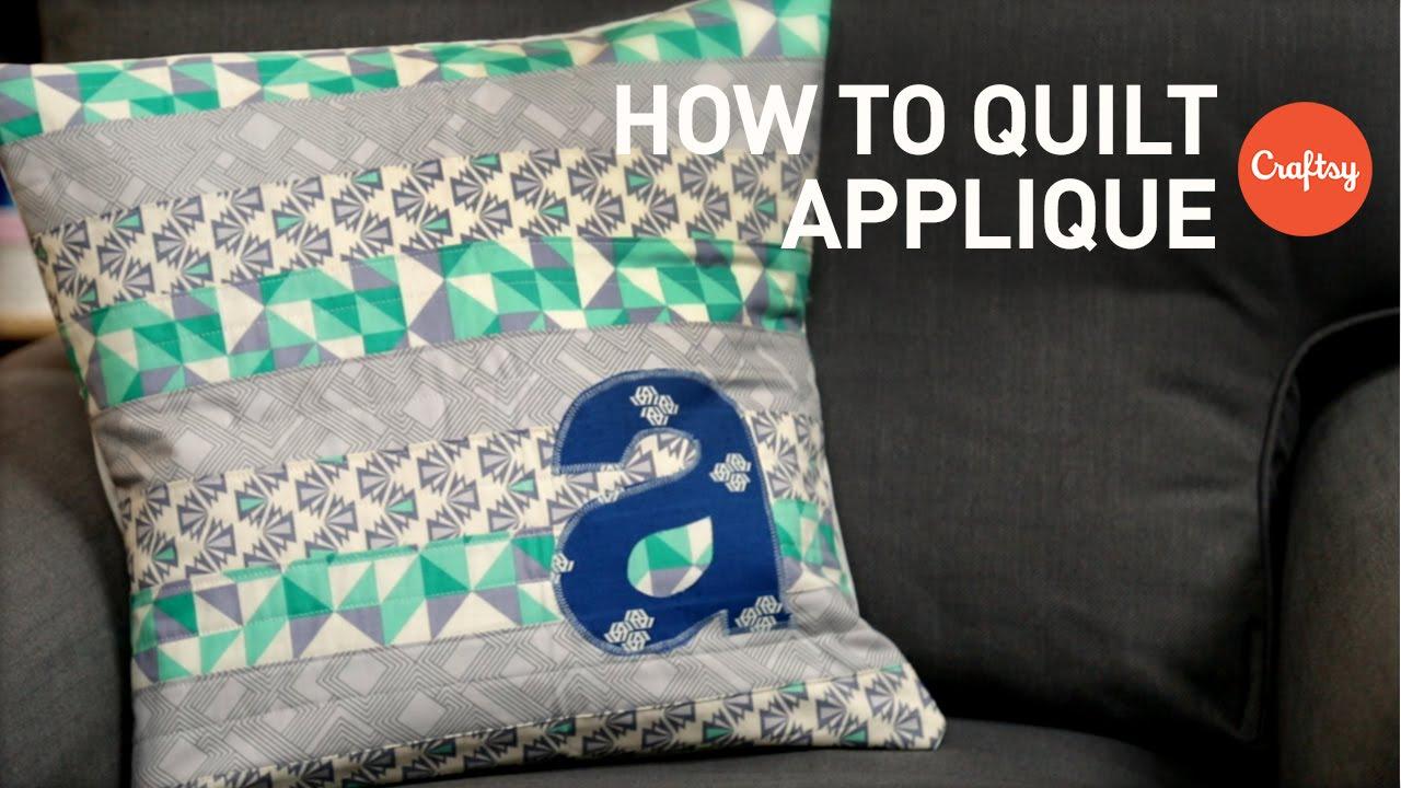 Quilt appliqué ideas: monogram lettering for beginners quilting