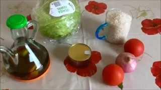 Самый популярный испанский салат с рисом