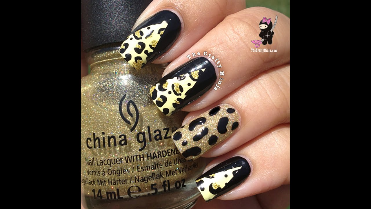 Cheetah Nail Foil Wraps by The Crafty Ninja - YouTube