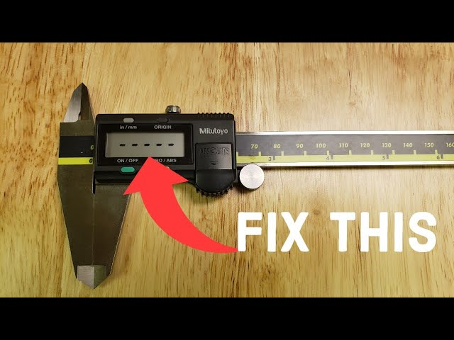 How to Fix Mitutoyo Calipers Dashes Flashing on Display After Replacing Batteries