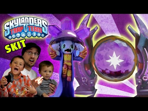 1st Skylanders Trap Team Magic Gate Opened! [Chapter 3: Chompy Mountain Gameplay SKIT]