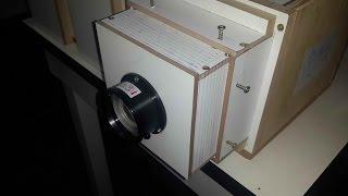 projetor diy caseiro com lampada alogênica de 300w com um display lcd de tablet SM T210 Part 1