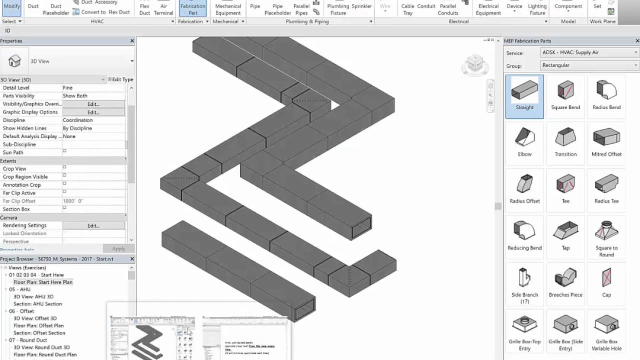 Revit 2017 Fabrication Parts - Tips and Tricks 02 Adding Insulation