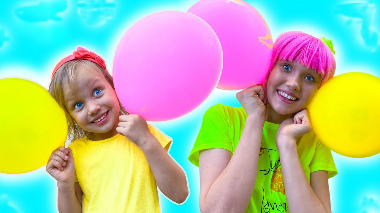 Blow your Balloon up song |  동요와 아이 노래 | 어린이 교육 | Alex and Nastya playing in the balloons