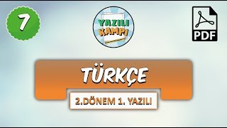 7.Sınıf Türkçe  2.Dönem 1.Yazılıya Hazırlık