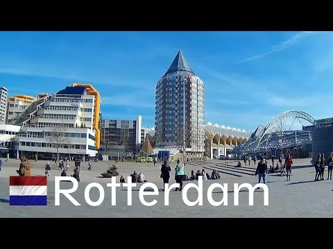 HOLLAND: Rotterdam City (arrival By Train At Blaak Station)