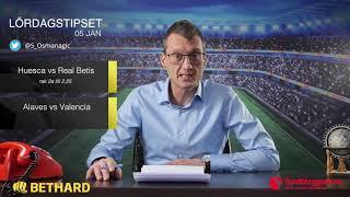 Speltips: Alavés - Valencia, Huesca - Real Betis & Bournemouth - Brighton 5/1