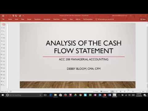 Analysis of the Cash Flow Statement