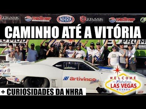 Caminho até a vitória em Las Vegas 🇧🇷  + Curiosidades da NHRA (vlog)