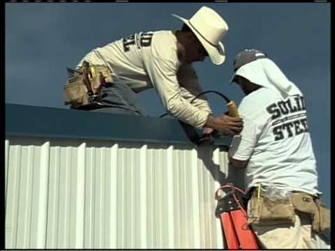 Metal Building Installation Step 22 Gable Trim Youtube