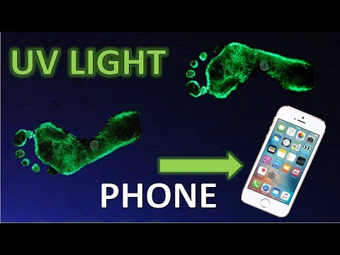 How To Make A UV (black Light) With Your Cell Phone Light
