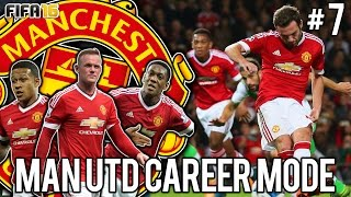 FIFA 16 CAREER MODE MANCHESTER UNITED #7 - THE MANCHESTER DERBY!!
