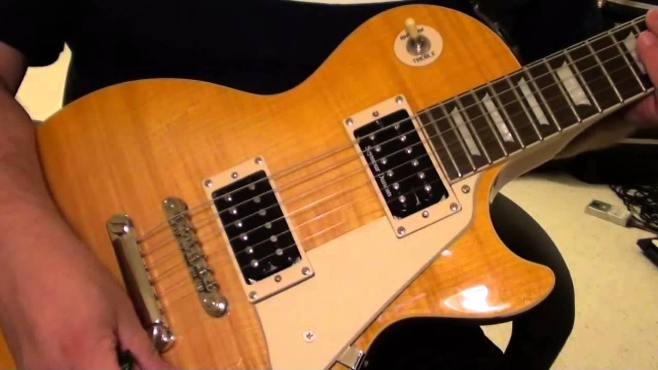 hight resolution of seymour duncan pearly gates coil split on epiphone les paul standard youtube