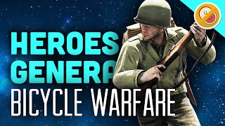BICYCLE WARFARE  - Heroes and Generals Gameplay & Funny Moments #1