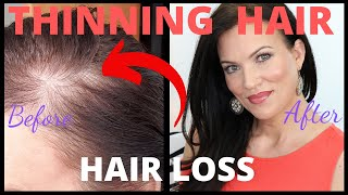 Fix THINNING HAIR & BALD SPOTS *** IN SECONDS *** FEMALE HAIR LOSS - MATURE BEAUTY OVER 40