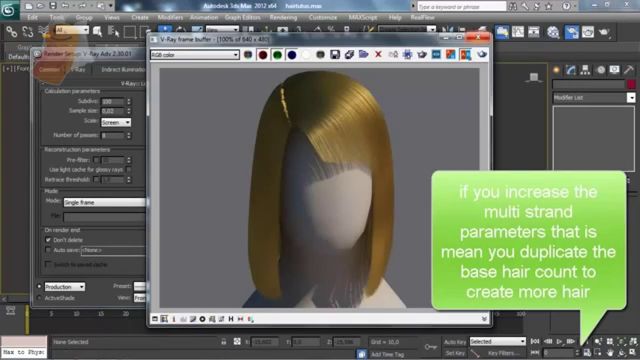 Complete 3Ds Max Hair Tutorial In 10 Minutes YouTube