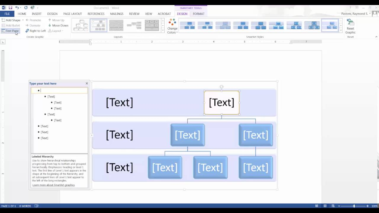 Microsoft Word: Creating a flowchart, concept map, or process map
