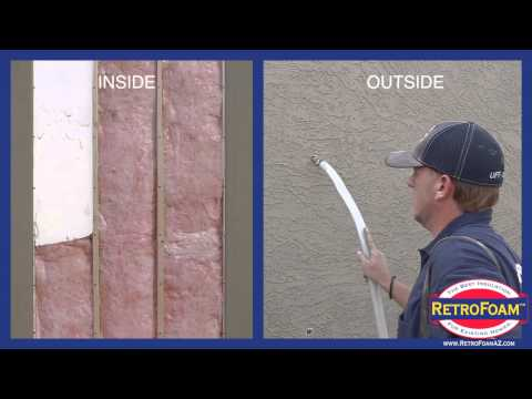 Retrofoam Of Arizona (602)222-FOAM - Slump block and wood framed wall install