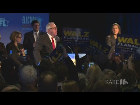 TIm Walz gives acceptance speech after winning Minnesota governor race