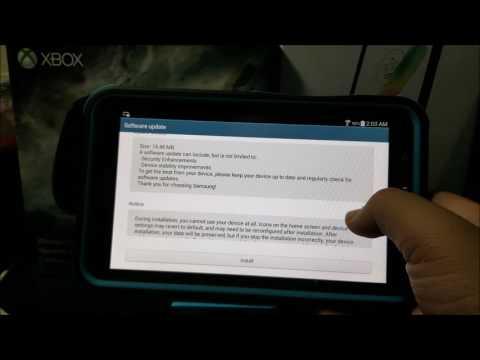 Samsung Galaxy Tab3 Software Update