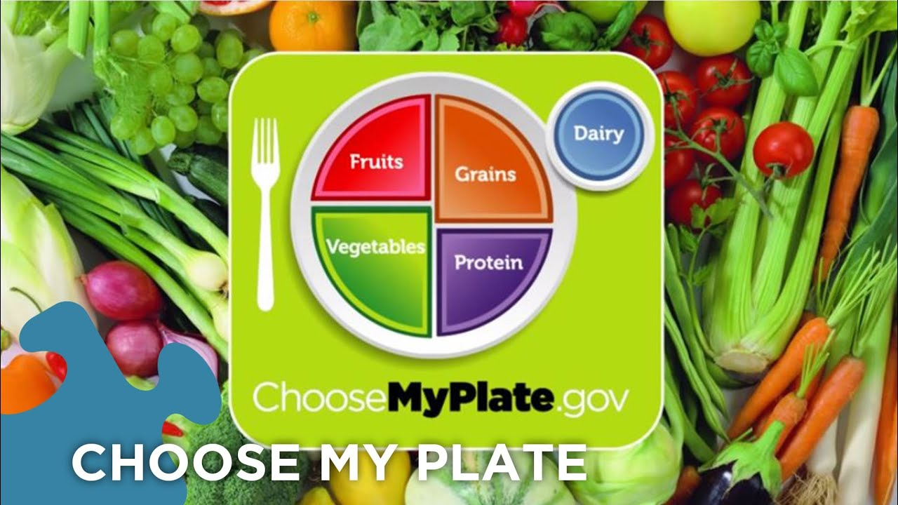 medium resolution of Choose My Plate Dietary Guidelines - YouTube