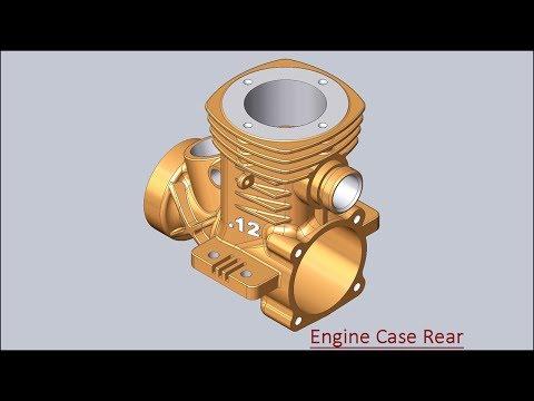 Engine Case Rear (Solid Edge Tutorial)