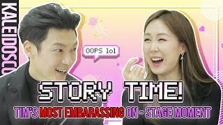 STORYTIME: Korean Singer TIM's Most Embarrassing On-Stage Moment & More |  meejmuse