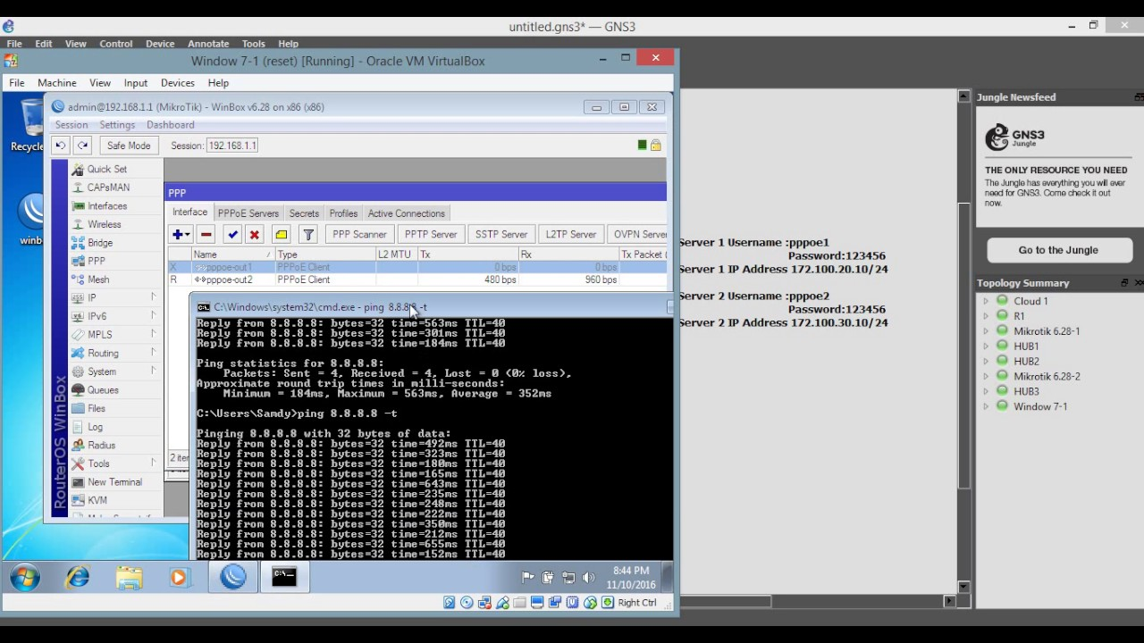 How to Configuration Load Balancing on Mikrotik Router using PPPOE