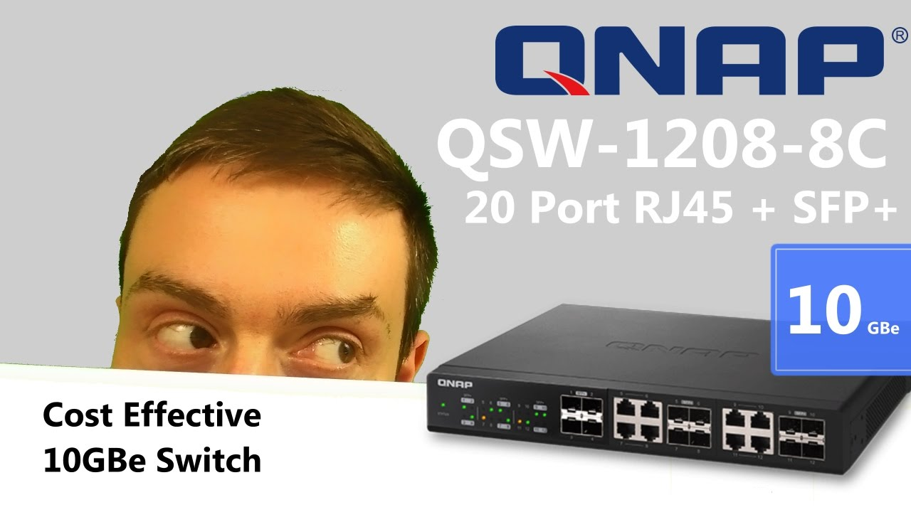 The Brand New QNAP QSW-1208-8C 10GBe Network Switch featuring 12x SFP+ and  8x RJ45