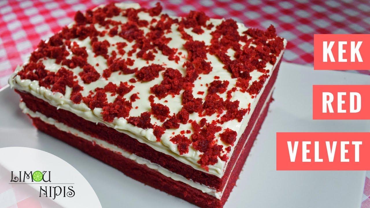 Kek Red Velvet Sangat Moist