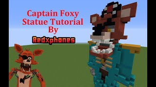 Minecraft Tutorial: Captain Foxy Statue + VR Foxy Skin (FNAF Help Wanted)