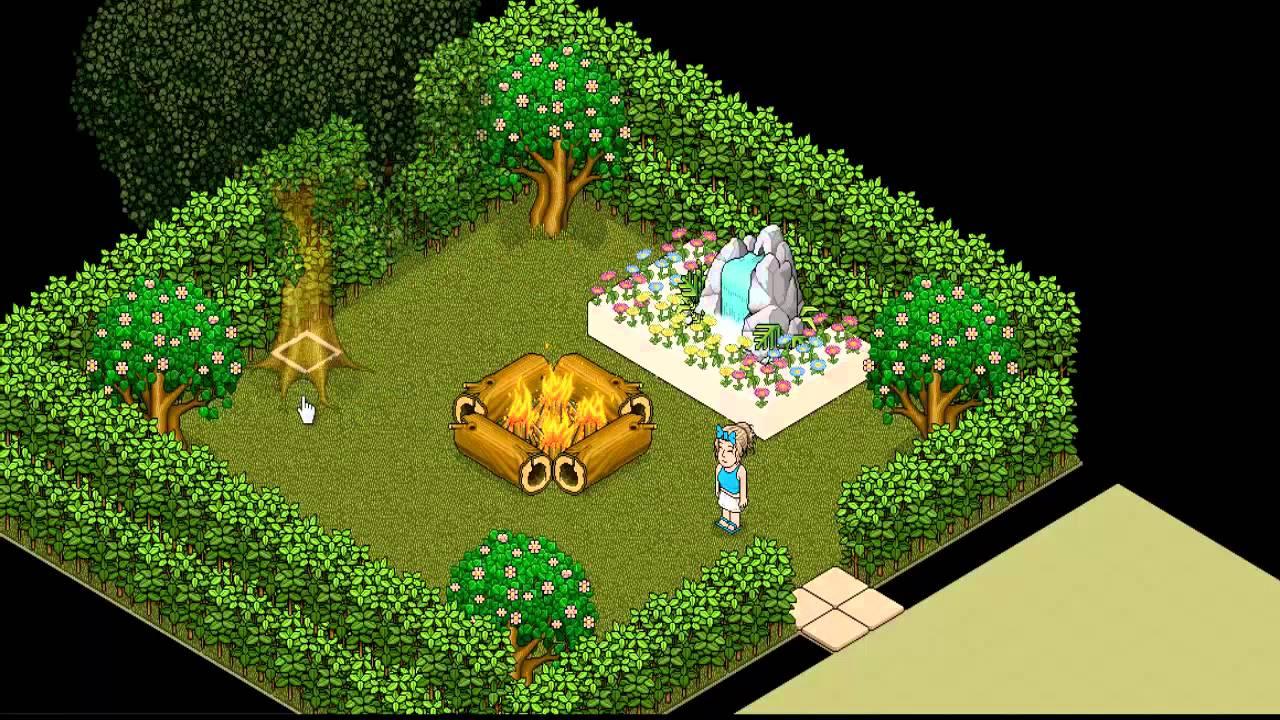 Como fazer um Jardim  Versão Habbo  YouTube # Como Fazer Um Banheiro Moderno Habbo