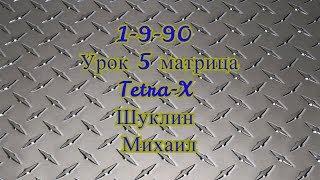 1-9-90 | Урок #5 Матрица Tetra-X | Шуклин Михаил