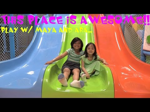 Family Playground Playtime Fun! Kiddie Slides, Trampoline, Swing, Obstacle Course, etc...