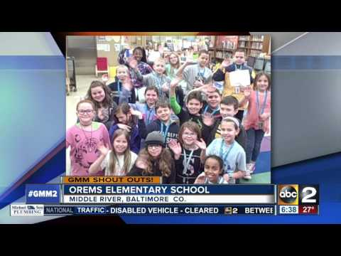 Orems Elementary School students give a GMM shout out
