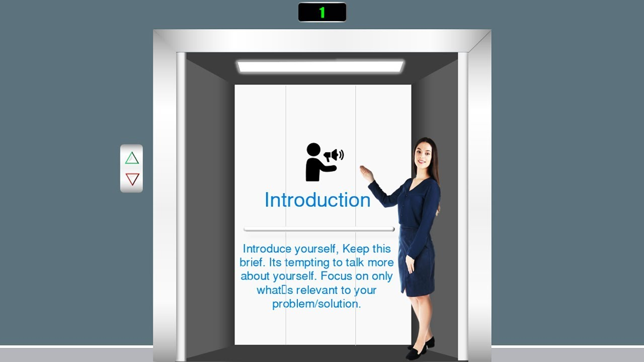 Elevator Pitch Point Template Deck Presentation Example