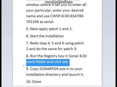 Sonar 8.02 Full Version Crack Free
