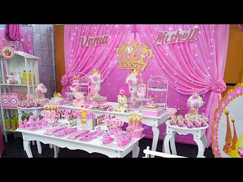 Coronas Para Decorar Cumpleanos.Tema Corona Reina Princesa Decoracion Tematica Fiesta Infantil De Ninas