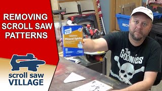 Removing Scroll Saw Patterns From Your Work-piece