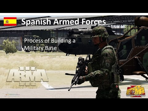 Spanish Armed Forces - Process Of Building A Military Base - ARMA 3 Machinima Cinematic