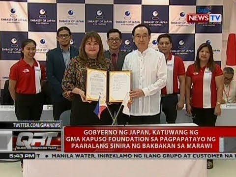 QRT: Gobyerno ng Japan, katuwang ng GMA Kapuso Foundation sa pagpapatayo ng ...