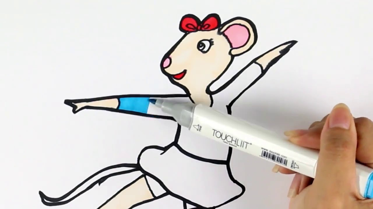 Angelina Ballerina Coloring Pages - Drawing Alice From Angelina ...
