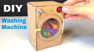 How to Make Amazing Mini Washing Machine from Cardboard