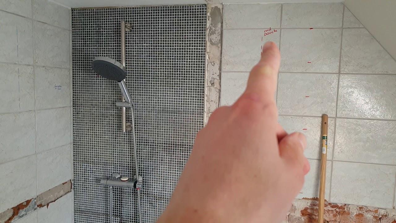 Inloopdouche maken in badkamer eensgezinswoning youtube