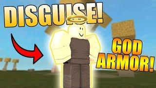 NOOB DISGUISE TROLL W/ GOD ARMOR! | ROBLOX: Booga Booga