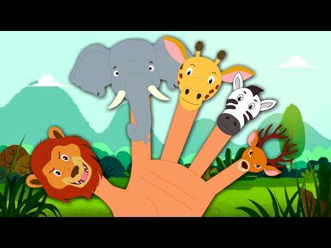 Animals Finger Family | Nursery Rhymes For Children
