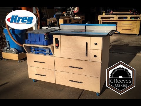 CReeves Makes the Mobile Router Table Combo with Kreg Features ep0028